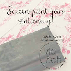 Screen print stationery square